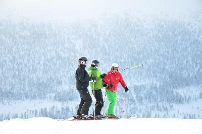 Skiers in Sälen