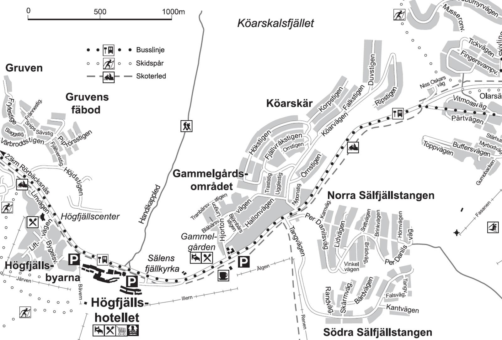 Karta över Lindvallen