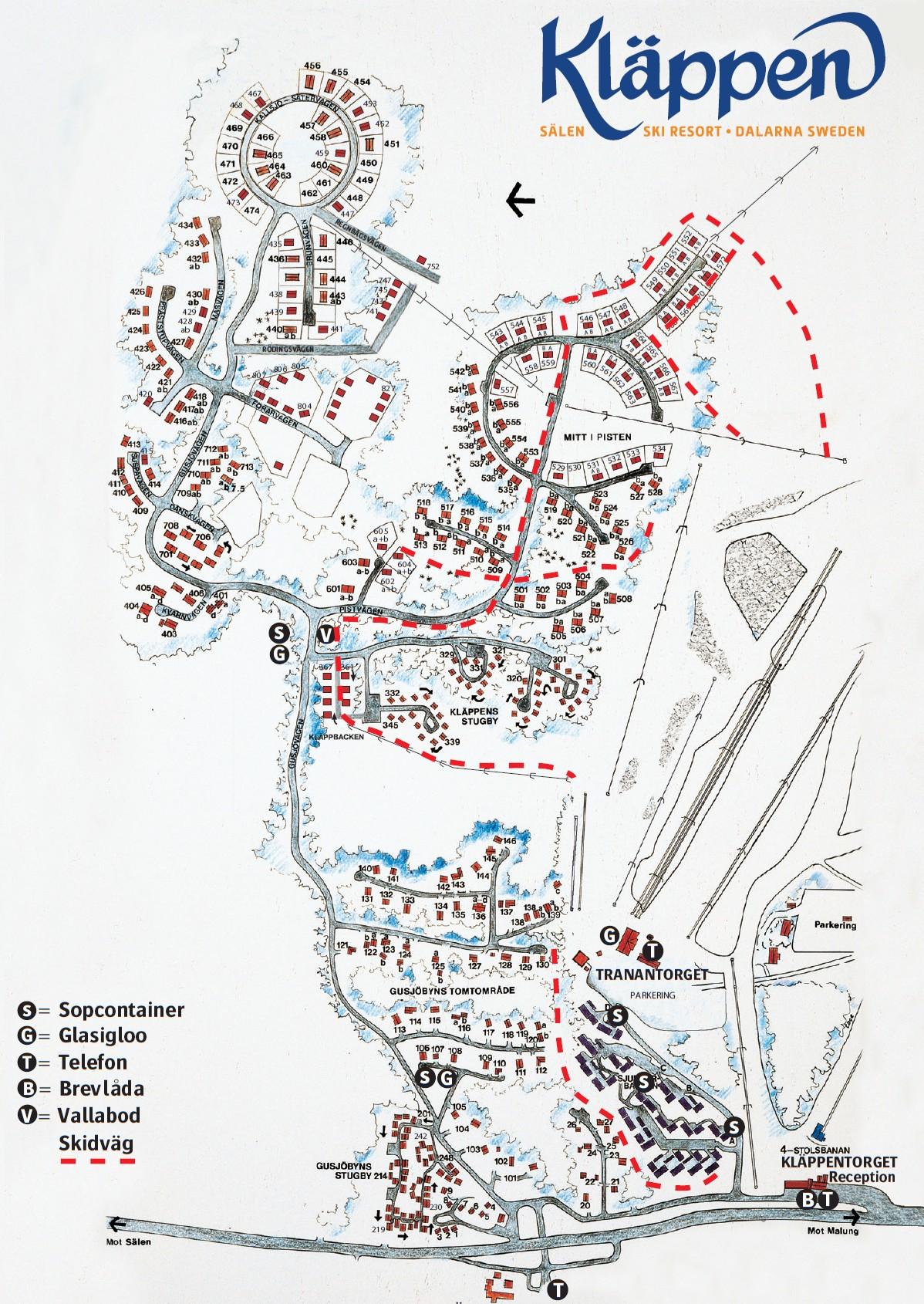 Karta över Kläppen