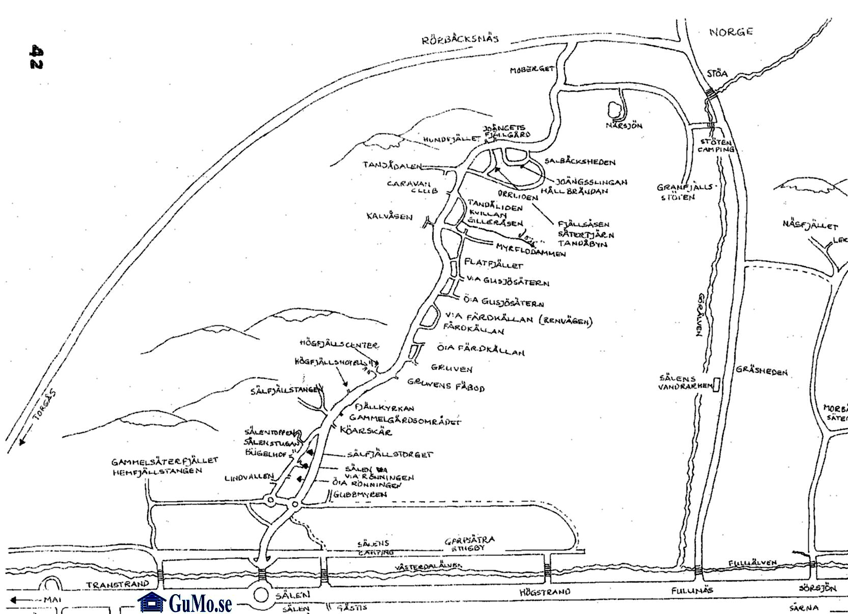 Karta över Sälen